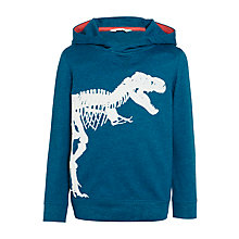 Buy John Lewis Boys' Glow In The Dark Graphic T-Rex Print Hoodie, Blue Online at johnlewis.com