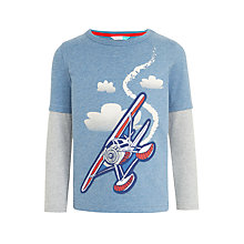 Buy John Lewis Boys' Sea Plane Top, Blue Online at johnlewis.com