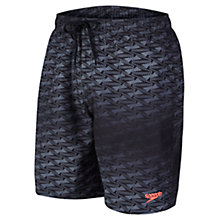 Buy Speedo Print Watershorts, Black/Grey Online at johnlewis.com