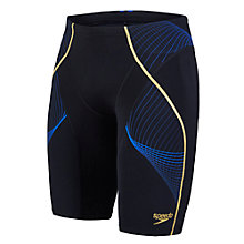 Buy Speedo Fit Pinnacle Jammer Swim Shorts, Black/Blue Online at johnlewis.com