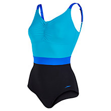 Buy Speedo Sculpture Crystalshine One Piece Swimsuit, Black/Blue Online at johnlewis.com