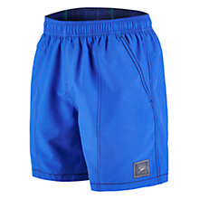 "Buy Speedo Check Trim Leisure 16"" Watershorts, Blue Online at johnlewis.com"