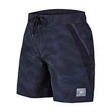 Buy Speedo Marlinwave Retro Leisure Watershorts, Black/Grey Online at johnlewis.com