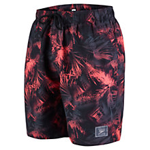 Buy Speedo Beachburst Leisure Watershorts, Black/Red Online at johnlewis.com