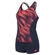 Buy Speedo Fit Tankini, Grey/Red Online at johnlewis.com