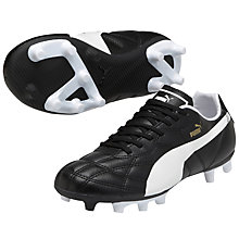 Buy Puma Children's Classico Lace Football Boots, Black/White Online at johnlewis.com
