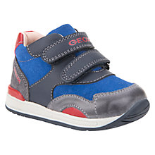 Buy Geox Children's Rishon Riptape Trainers, Blue/Grey Online at johnlewis.com