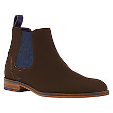 Buy Ted Baker Camroon 4 Suede Chelsea Boots, Brown Online at johnlewis.com