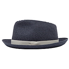 Buy Reiss Salt Woven Trilby Hat, Navy Online at johnlewis.com