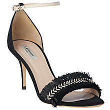 Buy L.K. Bennett Milla Raffia Stiletto Sandals, Black Online at johnlewis.com