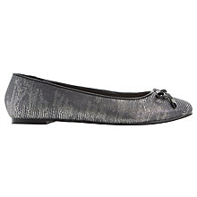 Buy Dune Heanda Square Toe Pumps, Pewter Reptile Online at johnlewis.com