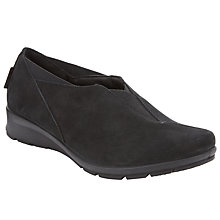 Buy John Lewis Designed for Comfort Flame Slip On Trainers, Black Online at johnlewis.com