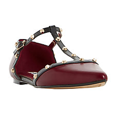 Buy Dune Heti Two Part Studded Pumps, Burgundy Online at johnlewis.com