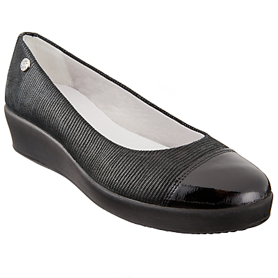 John Lewis Designed for Comfort Herero Flatform Pumps, Black