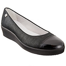 Buy John Lewis Designed for Comfort Herero Flatform Pumps, Black Online at johnlewis.com