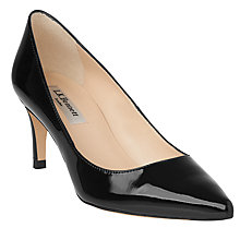 Buy L.K. Bennett Florida Pointed Toe Court Shoes, Black Online at johnlewis.com
