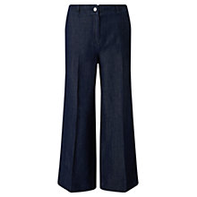 Buy Jigsaw Crop Wide Jeans, Denim Online at johnlewis.com