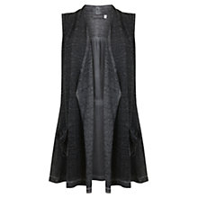 Buy Mint Velvet Mercury Overdye Waistcoat, Grey Online at johnlewis.com
