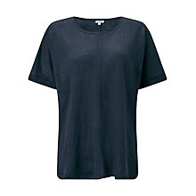 Buy Jigsaw Seamed Linen Top With Silk Trim Online at johnlewis.com
