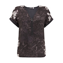 Buy Mint Velvet Gracie T-Shirt, Black/Multi Online at johnlewis.com