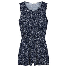 Buy Mango Cut Out Back Jumpsuit, Medium Blue Online at johnlewis.com