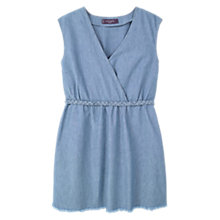 Buy Violeta by Mango Light Denim Dress, Open Blue Online at johnlewis.com