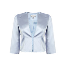 Buy Coast Zariya Duchess Satin Jacket, Pale Blue Online at johnlewis.com