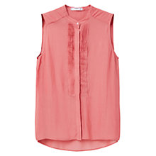 Buy Mango Pleated Panel Blouse, Pink Online at johnlewis.com