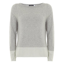 Buy Mint Velvet Side Split Jumper, Grey Online at johnlewis.com