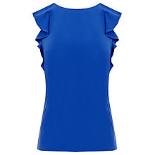 Buy Warehouse Ruffle Shell Top, Bright Blue Online at johnlewis.com