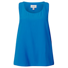 Buy Jigsaw Silk Tank Top, Azure Blue Online at johnlewis.com