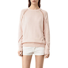 Buy AllSaints Lanta Jumper, Pink Rose Online at johnlewis.com
