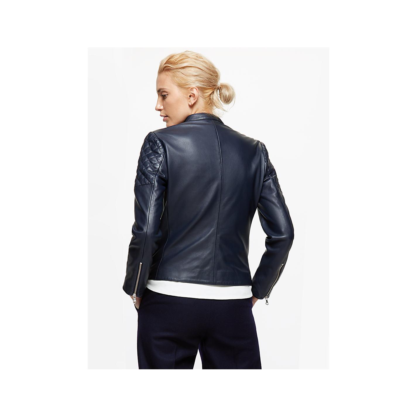 Leather jacket jigsaw - Navy Leather Jacket Jigsaw