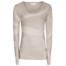 Buy Reiss Penny Colour Block Jumper, Taupe Online at johnlewis.com