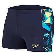 Buy Speedo Endurance Aquashorts, Blue/Green Online at johnlewis.com