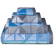 Buy Lindsey Lang Kalid Cotton Towels, Blue / Mint Online at johnlewis.com