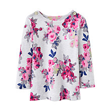 Buy Baby Joule Marina Floral Top, Grey Online at johnlewis.com