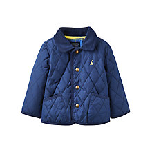 Buy Baby Joule Milford Quilt Coat, Navy Online at johnlewis.com