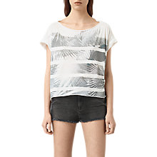 Buy AllSaints Java Pina T-shirt, Chalk White Online at johnlewis.com