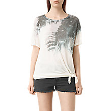 Buy AllSaints Guinea Heny Tee, Chalk White Online at johnlewis.com