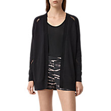 Buy AllSaints Lanta Cardigan, Black Online at johnlewis.com