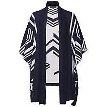 Buy Tommy Hilfiger Avani Abstract Print Cardigan, Snow White/Navy Blazer Online at johnlewis.com