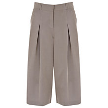 Buy Finery Tyler Soft Cropped Wide Leg Trousers, Light Khaki Online at johnlewis.com