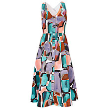 Buy Finery Bartley Button Through Dress, Psychedelic Pebbles Print Online at johnlewis.com