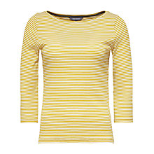 Buy Tommy Hilfiger Finley Stripe Jersey Top, Sundown Yellow/Snow White Online at johnlewis.com