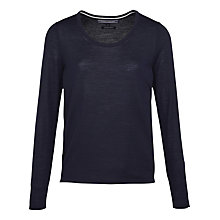 Buy Tommy Hilfiger Guvera Round Neck Wool Jumper, Nightsky Online at johnlewis.com