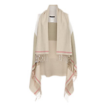 Buy Marc Cain Fringe Wool Cape, Natural Online at johnlewis.com