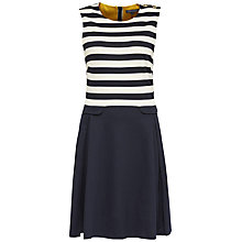 Buy Tommy Hilfiger Fekla Stripe Dress, Navy Blazer/Snow White Online at johnlewis.com