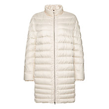 Buy Marc Cain Long Down Filled Coat, Panna Online at johnlewis.com