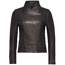 Buy Tommy Hilfiger Garnet Leather Jacket, Masters Black Online at johnlewis.com